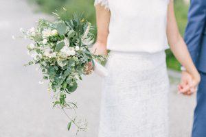 Detailaufnahme vom Brautstrauß, Hochzeit Gut Sonnenhausen - Alexandra Kasper